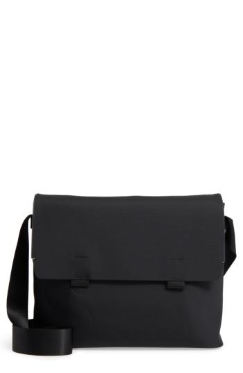 Men's Troubadour Nylon & Leather Messenger Bag - Black