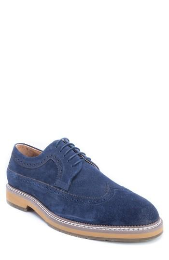 Men's Zanzara Modigliani Wingtip Derby M - Blue