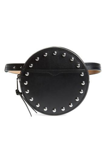 Women's Rebecca Minkoff Studded Leather Belt Bag - Black