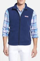 Men's Vineyard Vines Fleece Vest, Size - Blue
