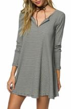 Women's O'neill Summit Stripe Knit Dress - White