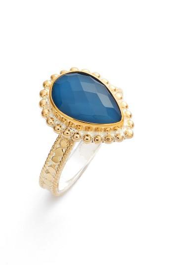 Women's Anna Beck Blue Quartz Teardrop Ring