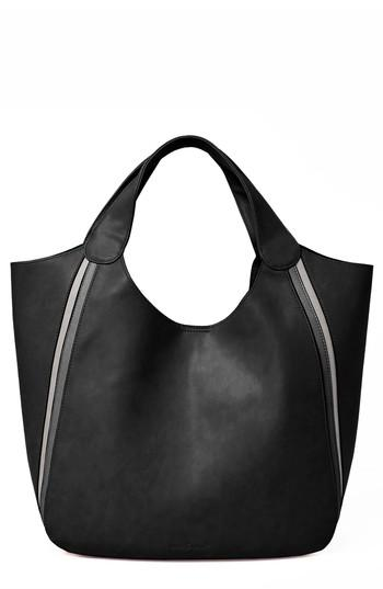 Urban Originals Viva Vegan Leather Tote With Removable Zip Pouch - Black