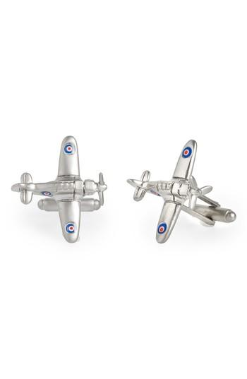 Men's Link Up Fighter Plane Cuff Links