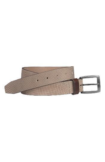 Men's Johnston & Murphy Leather Belt - Cream