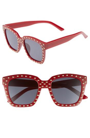 Women's Bp. Studded Square Sunglasses - Red/ Gold