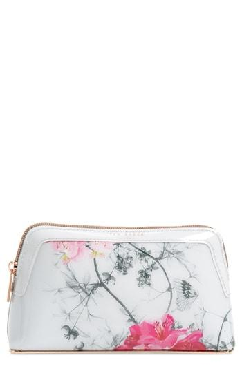 Ted Baker London Babylon Print Cosmetics Case, Size - Grey
