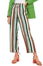 Women's Topshop Stripe Slouch Pants Us (fits Like 14) - White