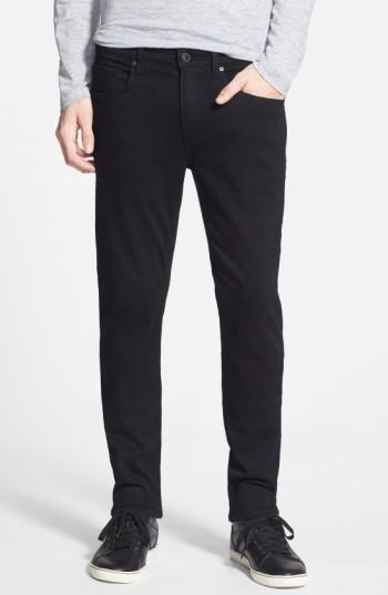 Men's Paige Transcend - Lennox Xl Slim Fit Jeans X 36 - Black
