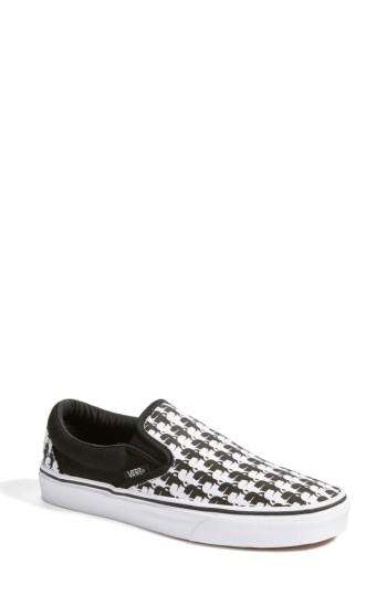 Women's Vans X Karl Lagerfeld Houndstooth Slip-on Sneaker M - Black