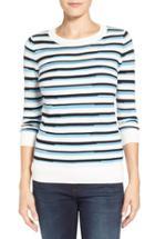 Petite Women's Halogen Three Quarter Sleeve Sweater P - White