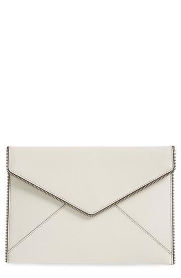 Rebecca Minkoff 'leo' Envelope Clutch - Grey