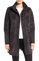 Women's Vince Camuto Faux Shearling Stand Collar Coat - Grey