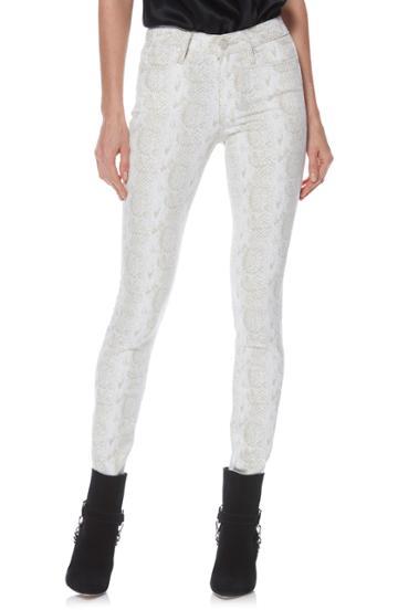 Women's Paige Hoxton High Waist Ultra Skinny Jeans - White