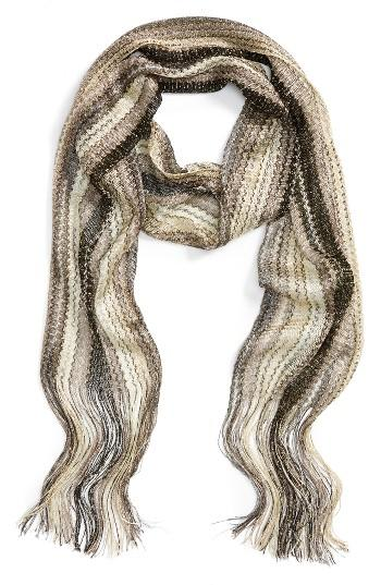 Women's Collection Xiix Havana Waves Slimmy Scarf, Size - Grey