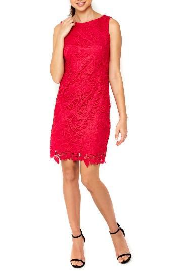 Women's Wallis Crochet Lace Sheath Dress Us / 20 Uk - Pink