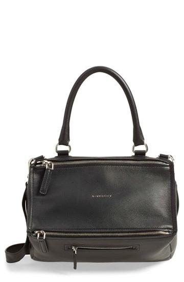 Givenchy 'medium Pandora' Sugar Leather Satchel - Blue