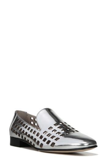 Women's Diane Von Furstenberg Linz Perforated Loafer M - Metallic