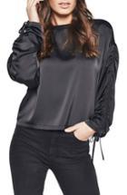 Women's Bardot Ruched Top - Black