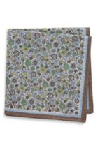 Men's Eton Floral Pocket Square, Size - Beige