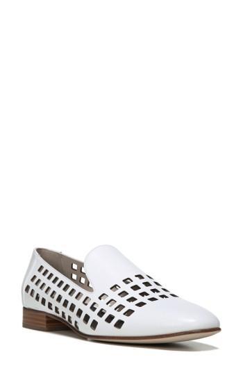 Women's Diane Von Furstenberg Linz Perforated Loafer M - White