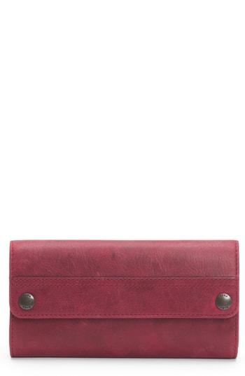 Women's Frye Melissa Leather Continental Wallet - Red