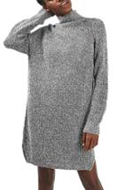 Women's Topshop Grunge Funnel Neck Sweater Dress