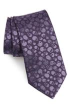 Men's John Varvatos Star Usa Skull Silk Tie, Size - Purple