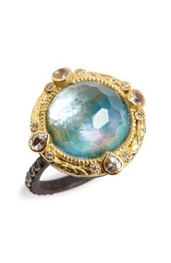 Women's Armenta Old World Opal & Diamond Ring