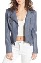 Women's Blanknyc Faux Leather Moto Jacket - Grey