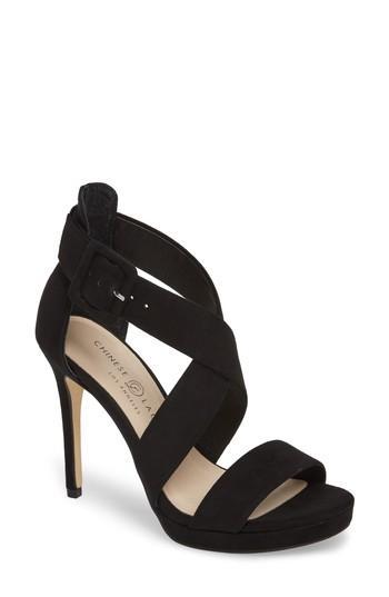 Women's Chinese Laundry Foxie Cross Strap Sandal M - Black