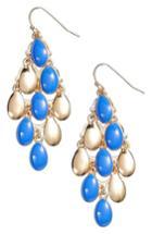 Women's Halogen Enamel Petal Chandelier Earrings