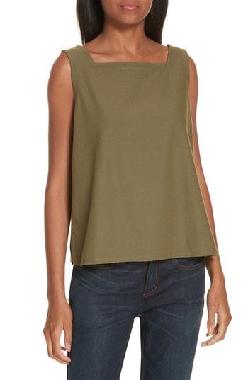 Women's Eileen Fisher Knit Shell, Size - Green