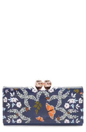 Women's Ted Baker London Milissa - Kyoto Gardens Print Matinee Wallet - Blue