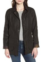 Women's Barbour Beadnell Waxed Cotton Jacket Us / 6 Uk - Green