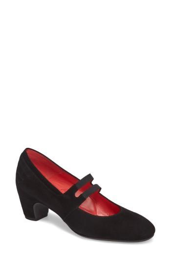 Women's Pas De Rouge Double Strap Mary Jane Pump Us / 35eu - Black