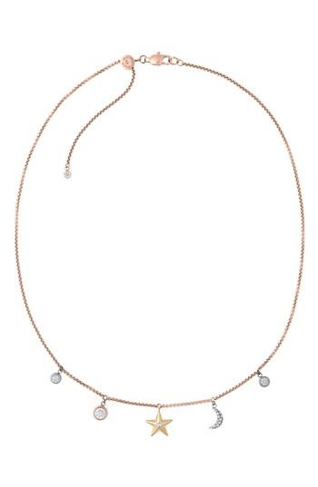 Women's Michael Kors Crystal Charm Necklace