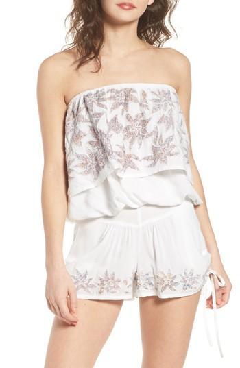 Women's Raga Lotus Love Strapless Popover Top - White