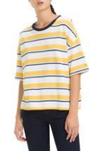 Women's Tommy Jeans Stripe Crop Tee - Yellow