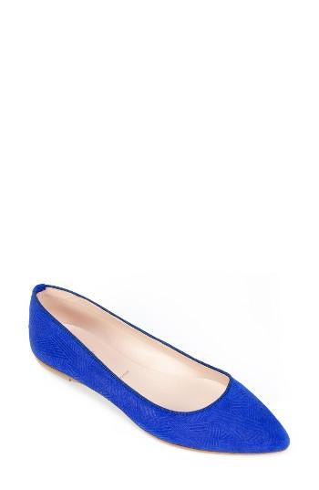 Women's Summit 'kamora' Pointy Toe Flat Eu - Blue