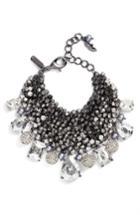 Women's Badgley Mischka Crystal & Pearl Cluster Bracelet