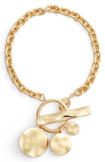 Women's Gorjana Chloe Hammered Disc Toggle Bracelet