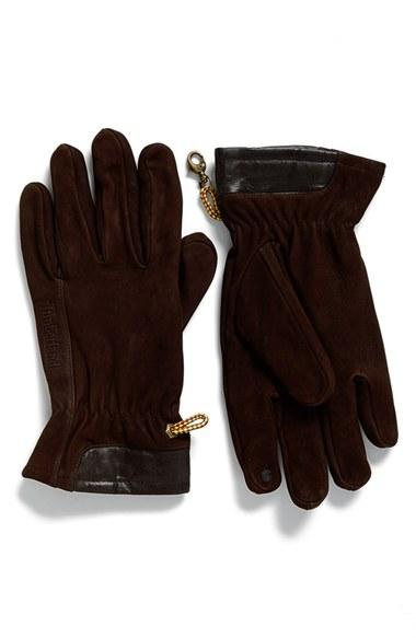 Men's Timberland Heritage Leather Gloves - Brown