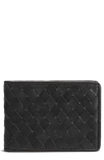 Men's Trask Woven Leather Wallet -