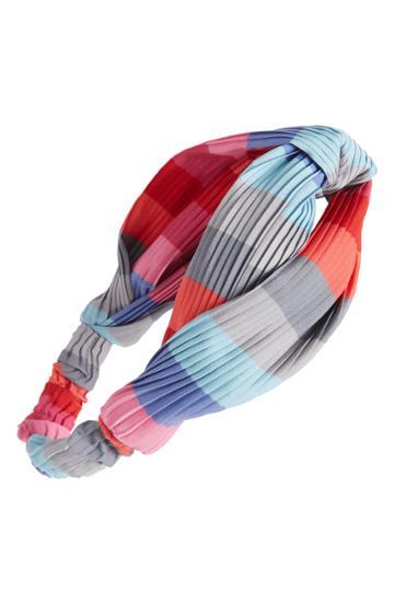 Cara Rainbow Twist Pleated Head Wrap, Size - Pink