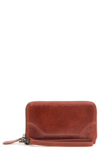 Women's Frye Melissa Leather Phone Wallet - Red