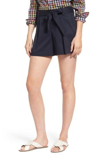 Women's 1901 Pleated Twill Bow Front Shorts - Blue