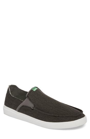 Men's Sanuk Pickpocket Slip-on Sneaker M - Black
