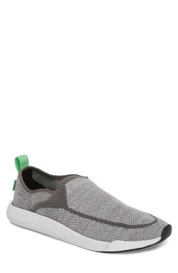 Men's Sanuk Chiba Quest Knit Slip-on Sneaker /11 M - Grey