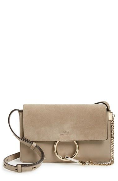 Chloe 'small Faye' Shoulder Bag - Grey